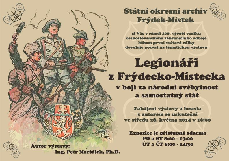 Výstava legionáři z Frýdecko-Místecka