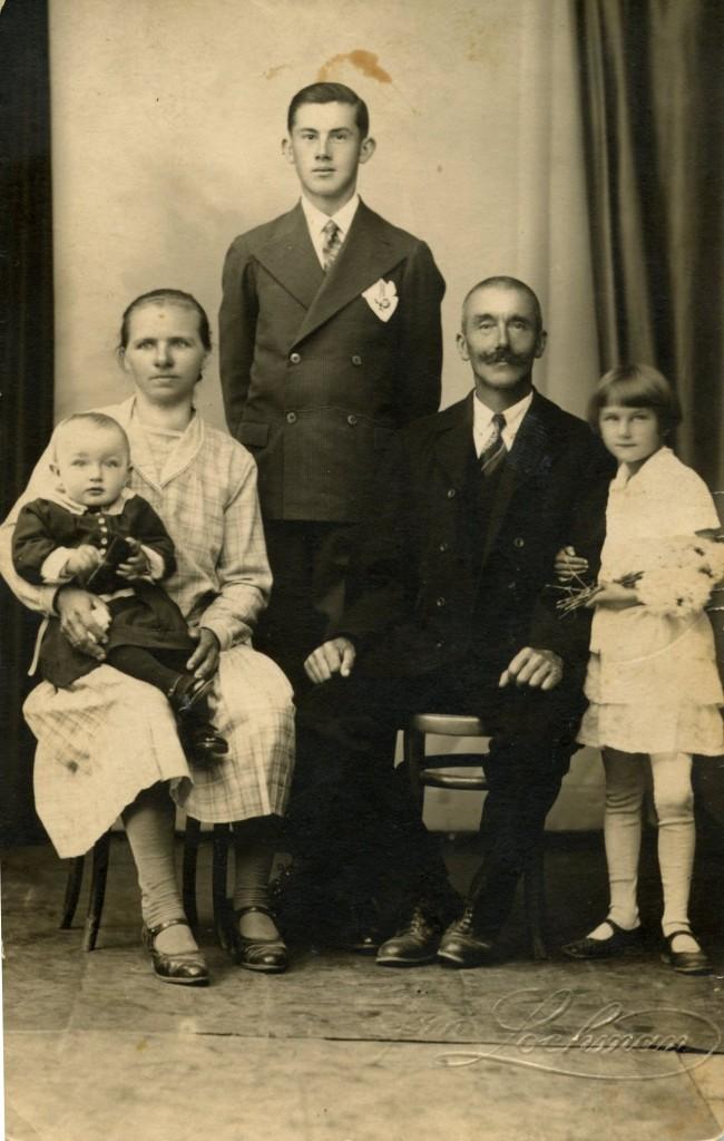František Tichavský s rodinou