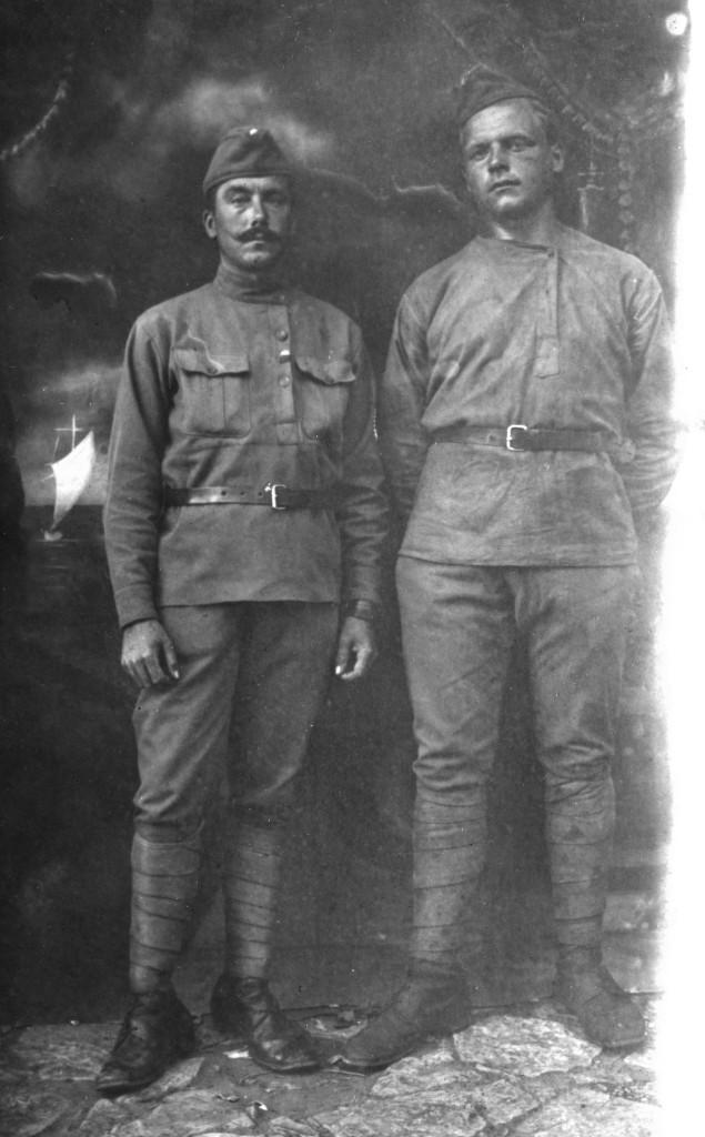 Jan FRANKE (vpravo) a František TICHAVSKÝ - legionáři